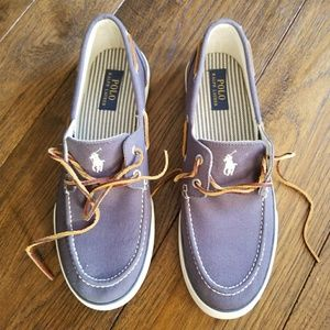 Polo by Ralph Lauren Shoes - POLO Ralph Lauren SANDER Blue Canvas Slip ons
